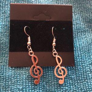 NEW Treble Clef Music Earrings 🎼